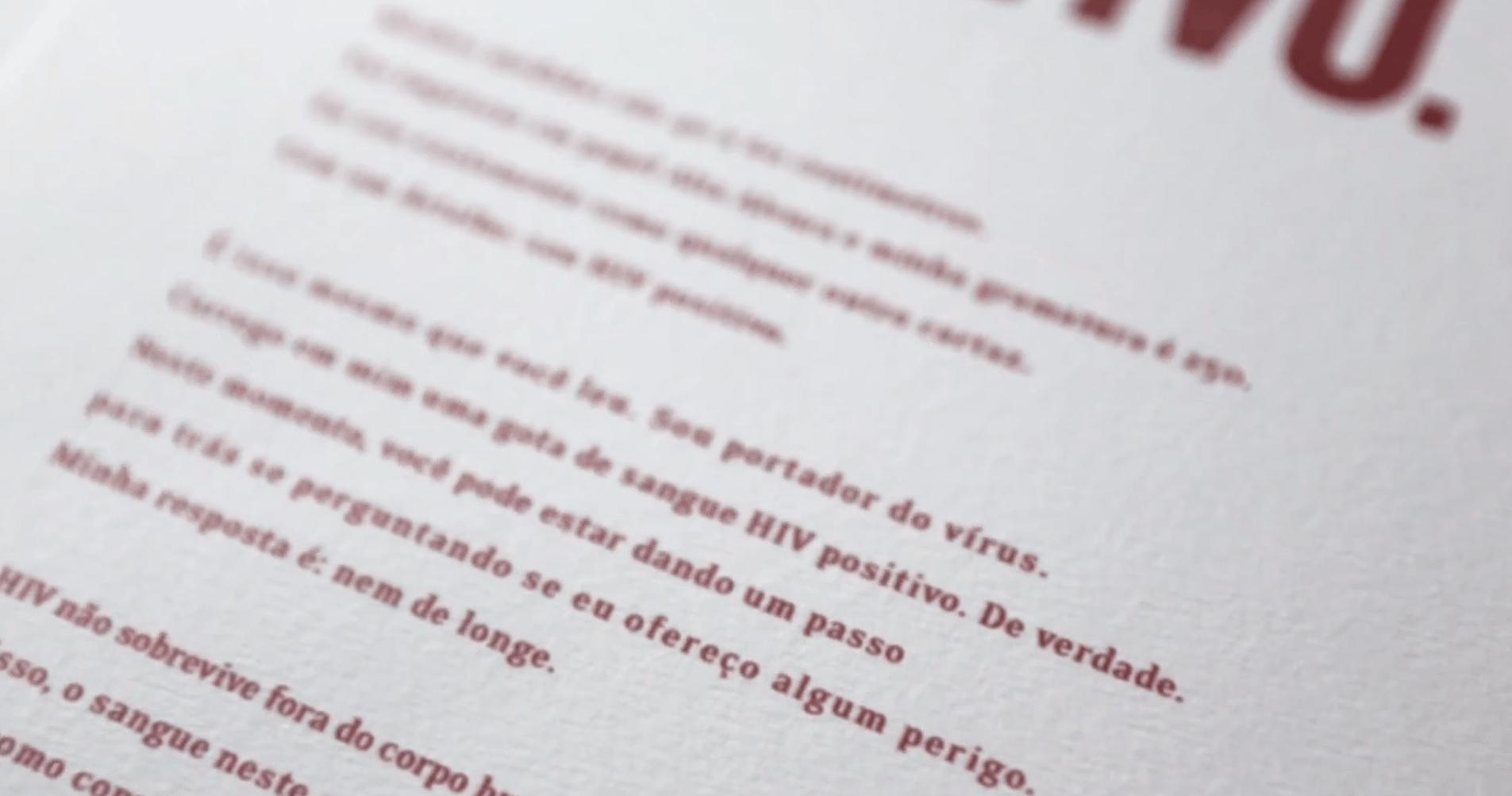 O Cartaz HIV Positivo: depoimento Victor Silba