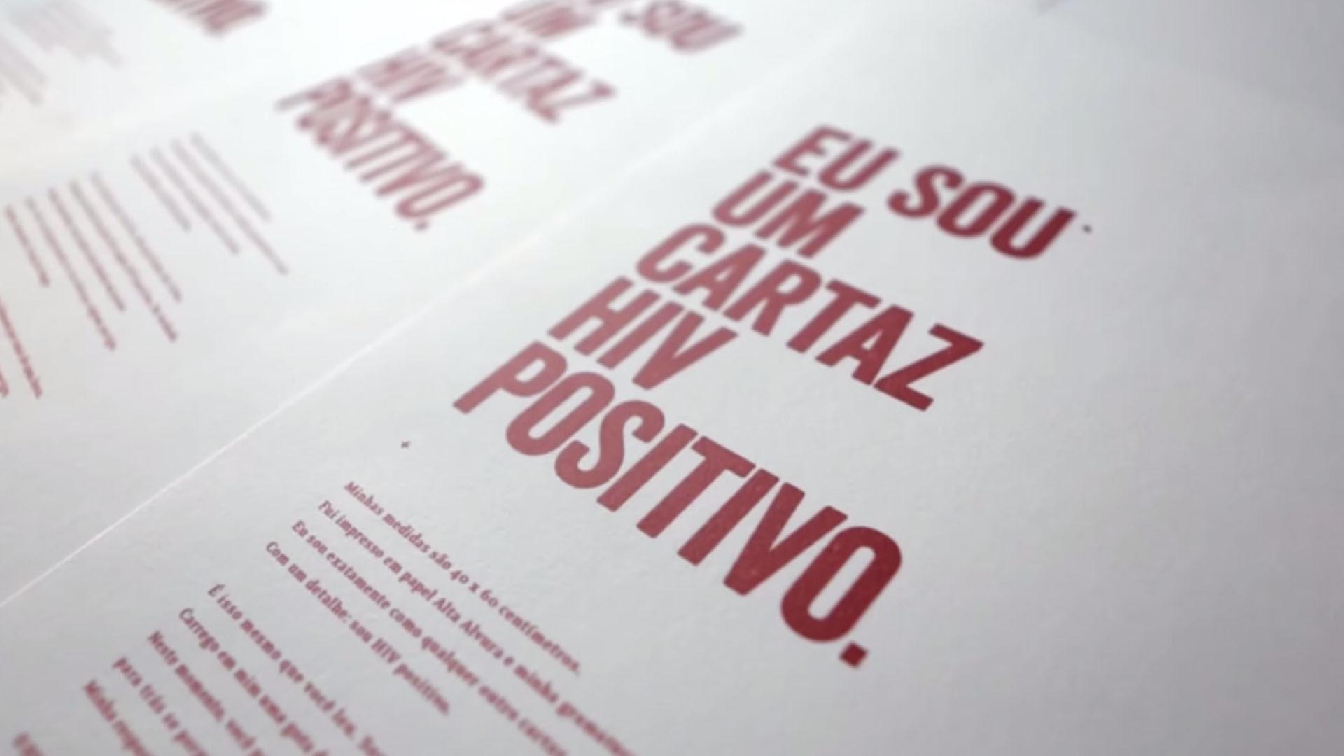 Cartaz HIV Positivo: depoimento Jeferson Guimarães Martins
