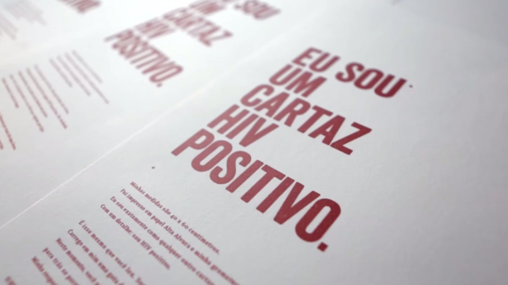 Cartaz HIV Positivo : depoimento Ozzy Cerqueira