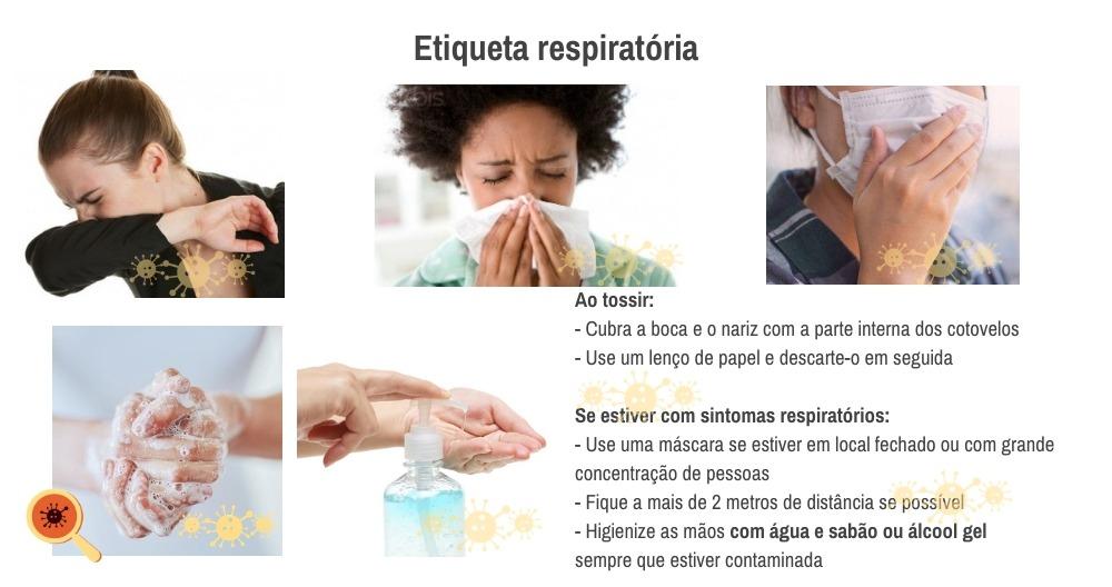 Novo coronavírus - Etiqueta respiratório